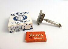 Ever Ready Safety Razor + Durex Razor Blades and Williams Mug Shaving Soap