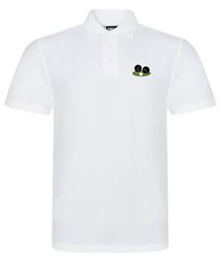 Lawn Bowls Bowling White Polo Shirt with Logo Size Small - 7XL