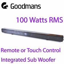 Goodmans 100W 2.1 Bluetooth Soundbar RCA 3.5mm Optical Input Subwoofer Mountable