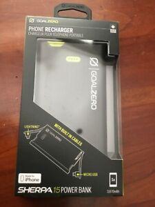 Goal Zero Sherpa 15 Power Bank / Micro, Lightning iPhone Recharger # 22020