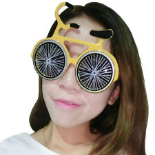 bicycle shaped glasses,fun party glasses,novelty glasses,bike glasses,yellow