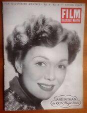 FILM ILLUSTRATED MONTHLY Vol 4 No. 8  Kirk Douglas, Diana Dors, Richard Widmark
