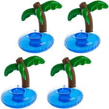 4x Aufblasbarer Palmen Getränkehalter Becher Dose Bierhalter Pool Strand Party
