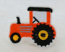 2PCS orange 48*65mm tractor Embroidered Iron On Patch Clothes Appliques Crafts