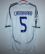 Rare Real Madrid Spain home shirt 06/07 #5 Cannavaro Adidas