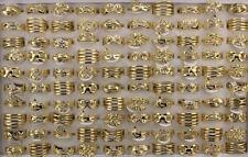 Wholesale Lots 30pcs Mixed Fashion Gold P Alloy Women Jewelry Lady's Rings