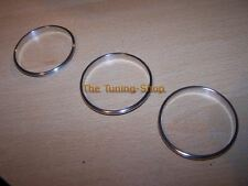 For VW T5 10-16 Transporter Brushed Satin Rings Surrounds for Manual Heater x3