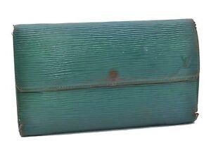 Authentic Louis Vuitton Epi Porte Tresor International Wallet Green LV 68803