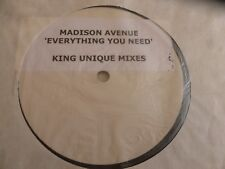 "MADISON AVENUE - Everything you need - White Label 12"" Vinyl Single"