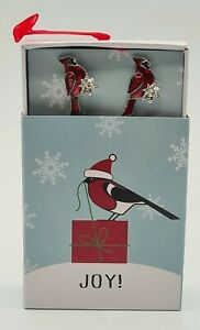 Red Cardinal Bird Earrings Christmas 10mm Surgical Steel Stud Stocking Stuffer