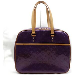 Louis Vuitton Hand Bag M91081 Sutton Purple Vernis 839390