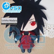 Anime Naruto Uchiha Madara DIY Handmade Toy Keychain Bag Hanging Plush Doll Gift