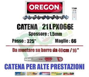 CATENA MOTOSEGA OREGON 21LPX066E PASSO .325  SPESSORE 1,5mm 66 MAGLIE