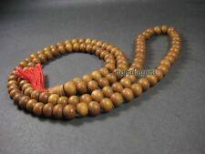 N4063 Buddha sandalwood Prayer mala beads Necklace Hindu yoga meditation Indian