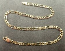 """10"""" - 3.4 grams * Fully Hallmarked 9ct Solid Gold Anklet - Figaro link -"""