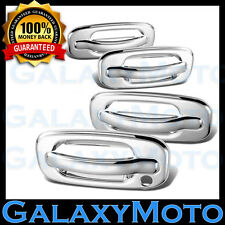 02-06 Chevy Avalanche Triple Chrome 4 Door Handle+w/o PSG Keyhole Cover Kit Set