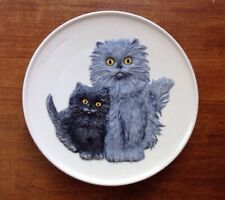 Goebel Cats Collectible Plate 1976 Second Edition Mothers Series Bas Relief