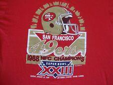 Vintage 80's NFL San Francisco 49ers Super Bowl XXIII 1988 T Shirt Adult size L