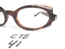 "Vintage Marine Tres Gas1950s/60s Cat Eye Eyeglasses Frame Amber 5 1/2"" (Cte-41)"