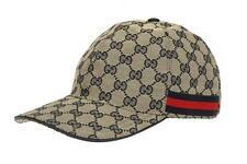 NEW GUCCI ORIGINAL GG GUCCISSIMA LOGO CANVAS  WEB DETAIL BASEBALL CAP HAT 60/XL