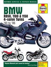 MOTO HAYNES SERVICE & MANUEL DE RÉPARATION PROPRIÉTAIRE BMW R850 1100 & 1150