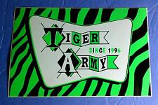 Tiger Army Early Years Green Striped Amp Board Guitar Case Sticker