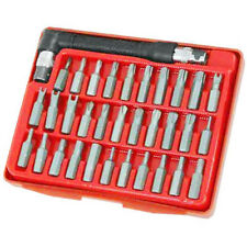 33Pc Security Bits Tool Set - Hex/Spanner/Star/Torq/Tri-Wing/Offset Driver Tools