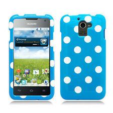 For MetroPCS Huawei Premia M931 HARD Case Phone Cover Blue Polka Dots Accessory