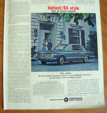 1964 Plymouth Valiant Ad  Style   Take Quality