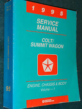 1995 DODGE COLT / EAGLE SUMMIT WAGON SHOP MANUAL SET / ORIGINAL BOOKS!!