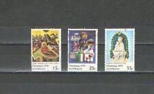 P6731 - AUSTRALIA 1979 - SERIE COMPLETA NATALE I N. 681/83 USATA - VEDI FOTO