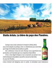 PUBLICITE ADVERTISING  1990   STELLA ARTOIS  bière du Pays des Flandres