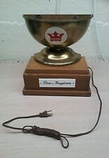 antique advertising,sign,display,dow beer cup lamp