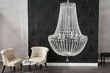 ELEGANTE ARAÑA DE CRISTAL iluminación Claro Transparente Lámpara Colgante 110cm