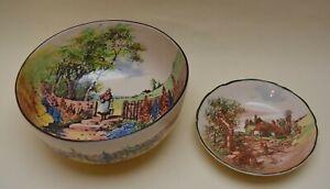 Royal Doulton Bowl Country Scene plus Rustic England Dish