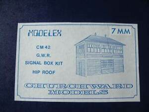 Boxed 7mm Scale Churchward Model Brass CM42 Timber Built Hip Roof Signal Box Kit