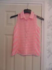 girls YD striped pink top 10/11 excellent condition charity sale