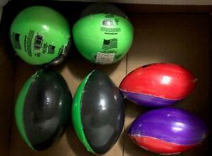 "Poof Mini Foam Football (5.5"") and Basketball (4"") Pool Sports Balls 6 Pack #3"