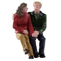 Lemax Christmas Village Town Lunch Date 92767 Sitting Couple Love Holding Hands