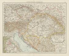 Austria-Hungary. Czechia Croatia Bosnia Serbia. Vienna environs. TIMES 1900 map