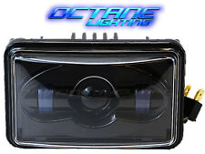 "4X6"" Black LED HID CREE Daymaker Light Clear Sealed Beam Headlamp Headlight Each"