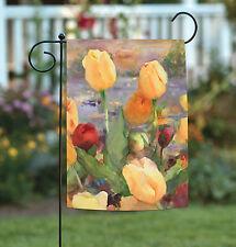 Toland Tulip Gold 12.5 x 18 Colorful Spring Summer Flower Garden Flag