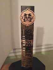 Square Mile Cider Co The Original Hard Apple Cider Wooden Beer Tap Handle Rare