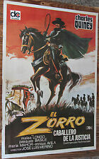 Used Cartel de Cine EL ZORRO Caballero de la Justicia  Vintage Movie Film Poster