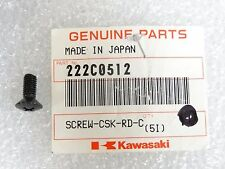 Kawasaki NOS NEW  222C0512 Screw 5x12 KEF KLF KEF300 KLF400 KLF300 1988-2005