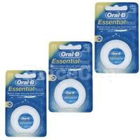 6 x Oral B Floss Essential Regular Floss, Dental Unwaxed Floss