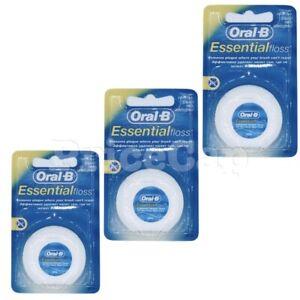 6 x Oral B Floss Essential Regular Floss | Dental Unwaxed Floss