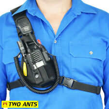 Phone & Radio Holster Chest Harness - Right - Black - Two Ants Worker CT000SRBK