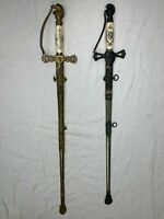 Two Rare Mason Antique Vintage Freemason Masonic Swords Collectibles