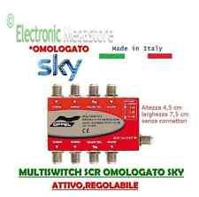 MULTISWITCH SCR SAT OMOLOGATO SKY REGOLABILE 0/-12dB MADE IN ITALY PRESSOFUSO AL